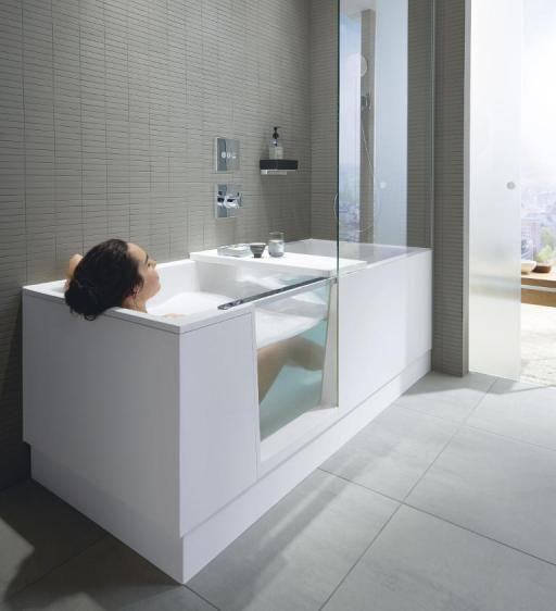 Photo of Shower & Bath: Duschbadewannen & Kombiwannen für kleine Bäder | Duravit