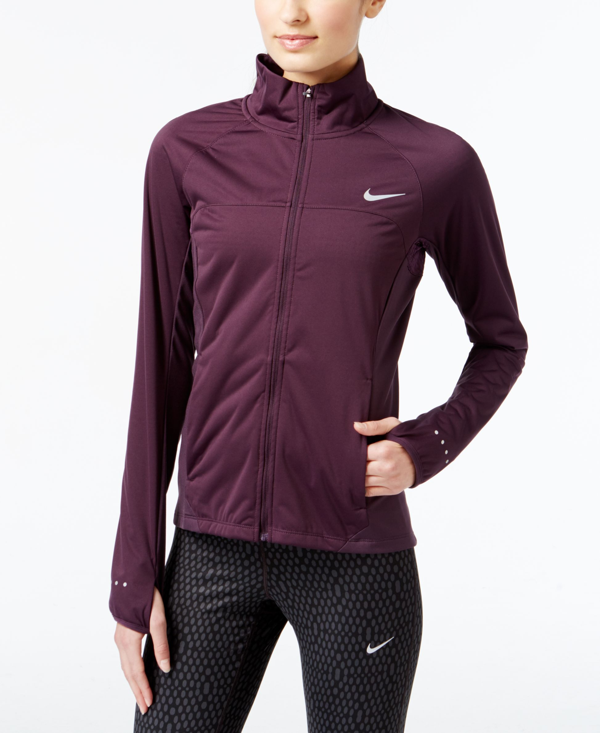 97bae98ddf Nike Shield Running Jacket - Active Jackets   Hoodies - Women - Macy s