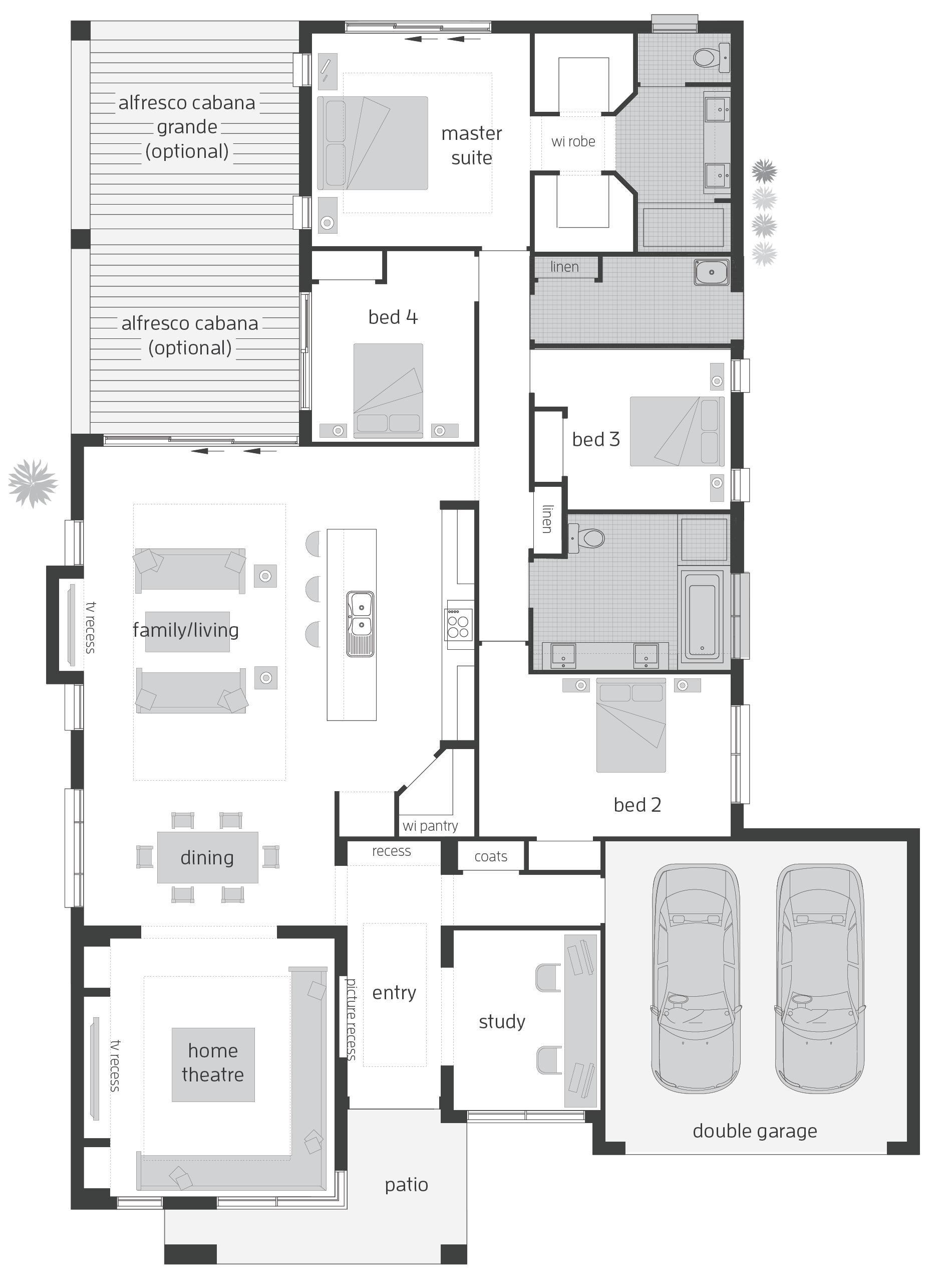 Monte Carlo Floorplans House Plans Australia Floor Plans New House Plans