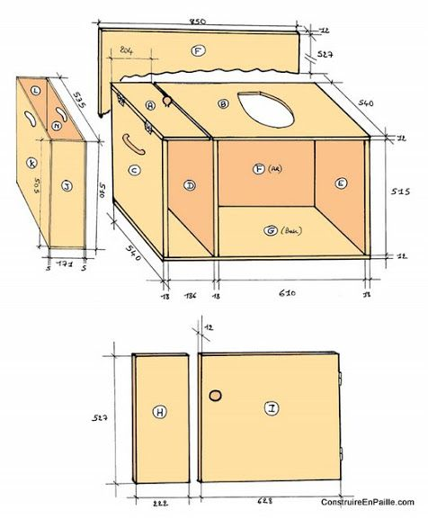 Plan des wc secs garden party pinterest construction - Toilette seche interieur maison ...