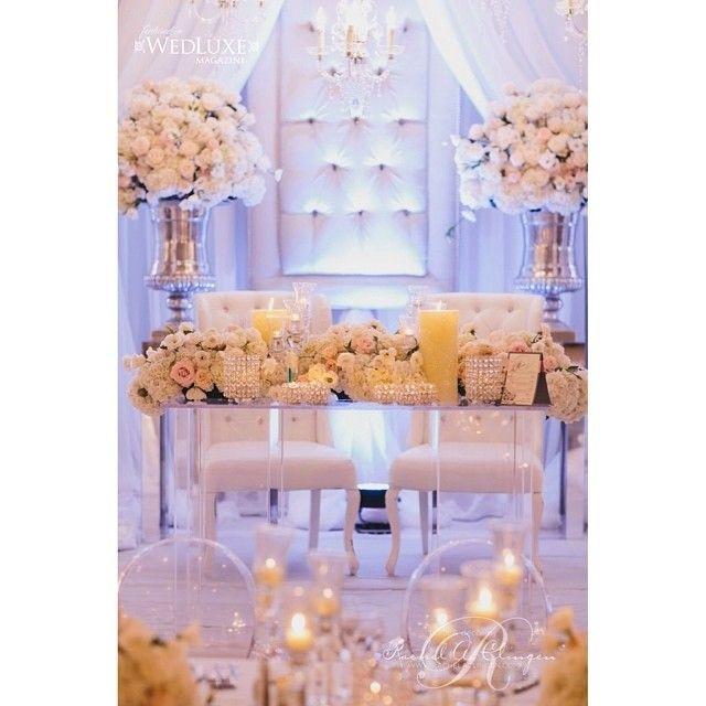 All White Wedding Decor via Rachel A. Clingen