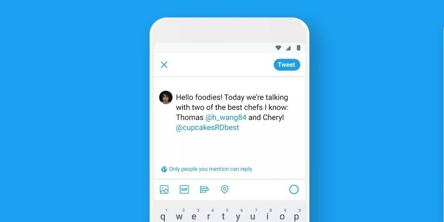 Twitter now lets you limit replies to your tweets
