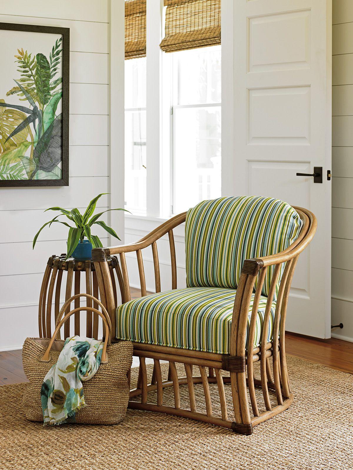 Tropical Accent Chair greenandwhite coastalfurniture