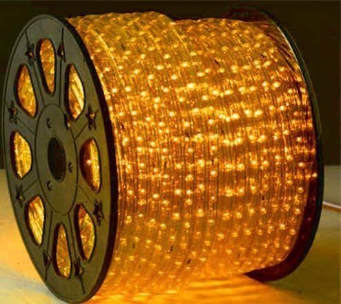 164 Feet Yellow 2 Wire LED Rope Light Decorative Bar, Home