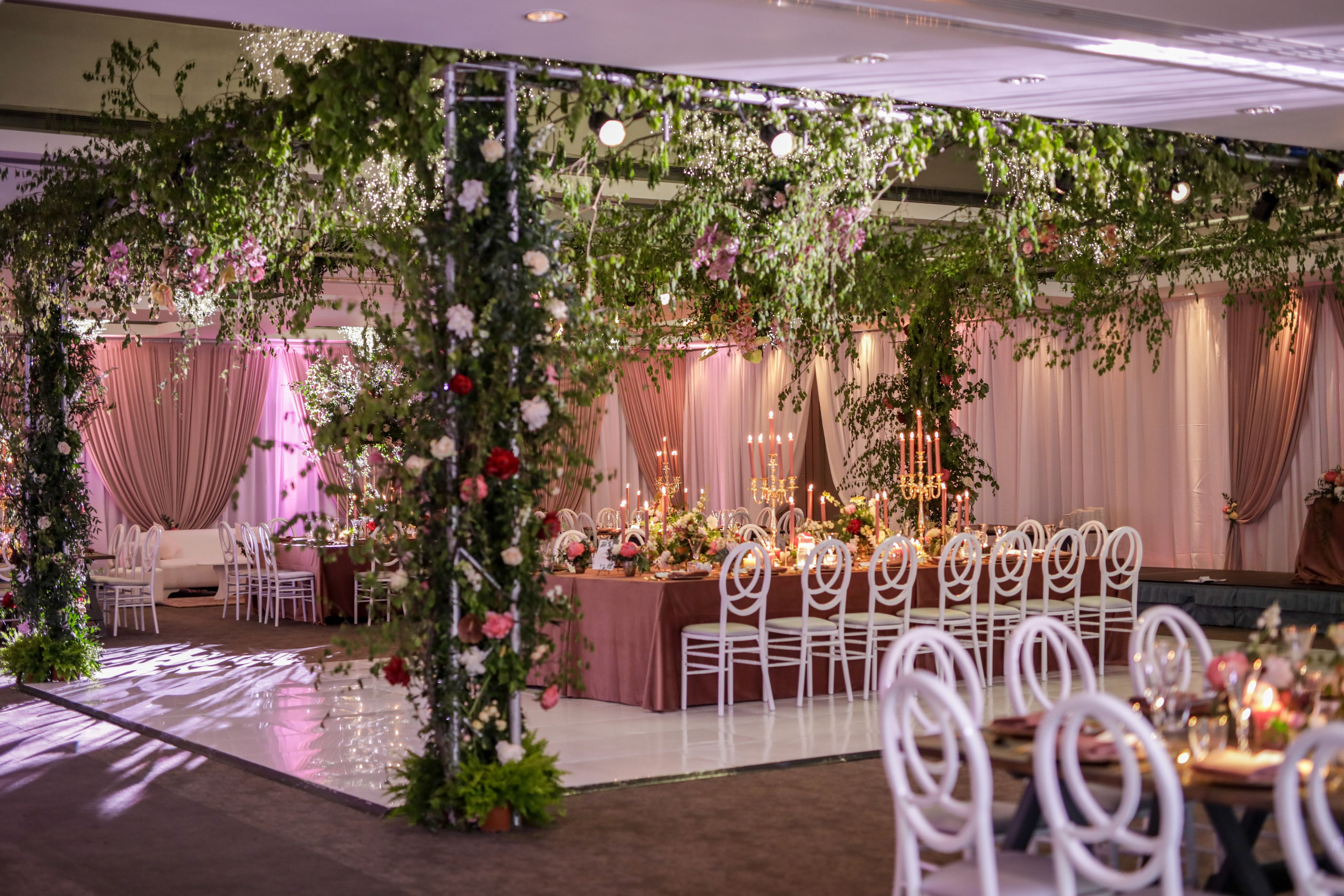 Magical Enchanted Forest Themed Wedding Reception Designed By