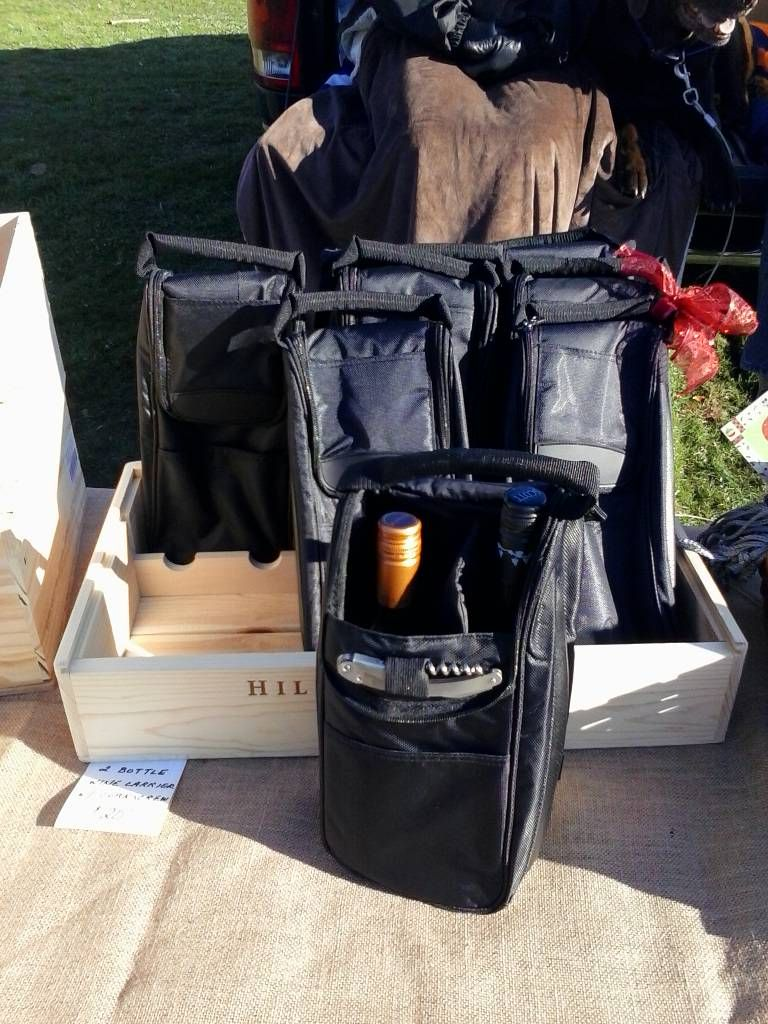 Wine Bag for two bottles or six cans with corkscrew and knife insulated  #3840 black Great for Christmas or hanukkah   $20.00
