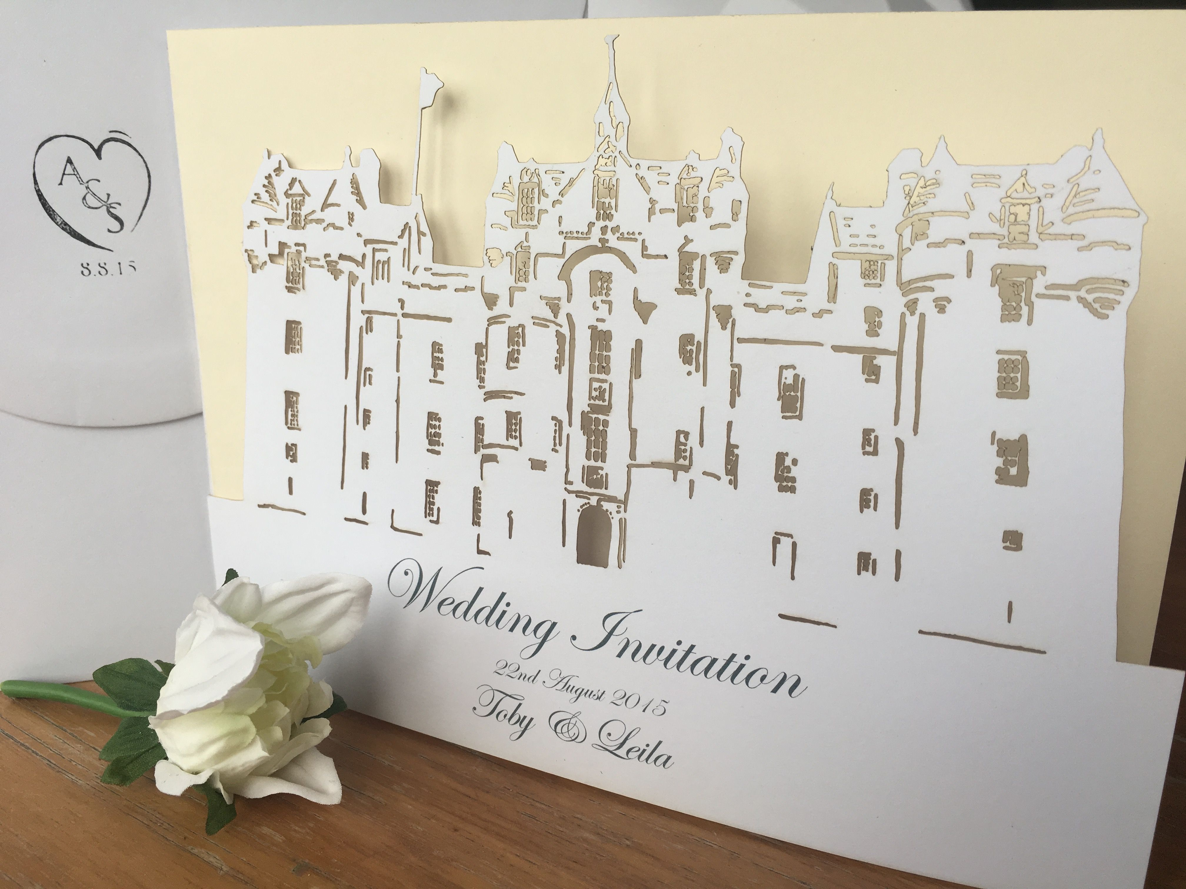 Fyvie Castle Wedding Invitation We Can Turn YOUR VENUE Into A Beautiful Laser Cut