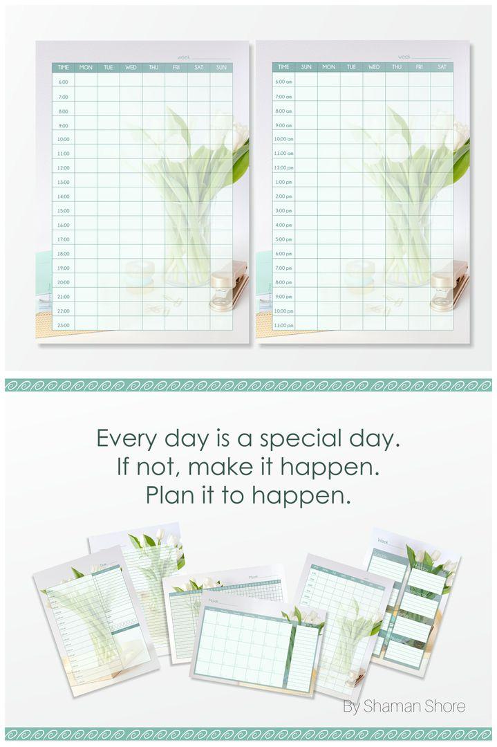 printable weekly scheduler