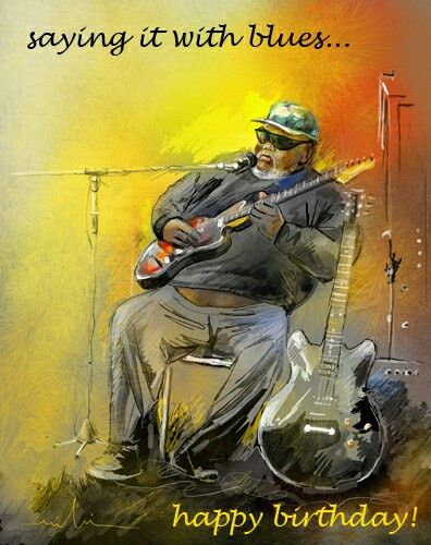 Colourful Birthday Card Featuring A Blues Musician In Memphis Free Online Saying It With Ecards On