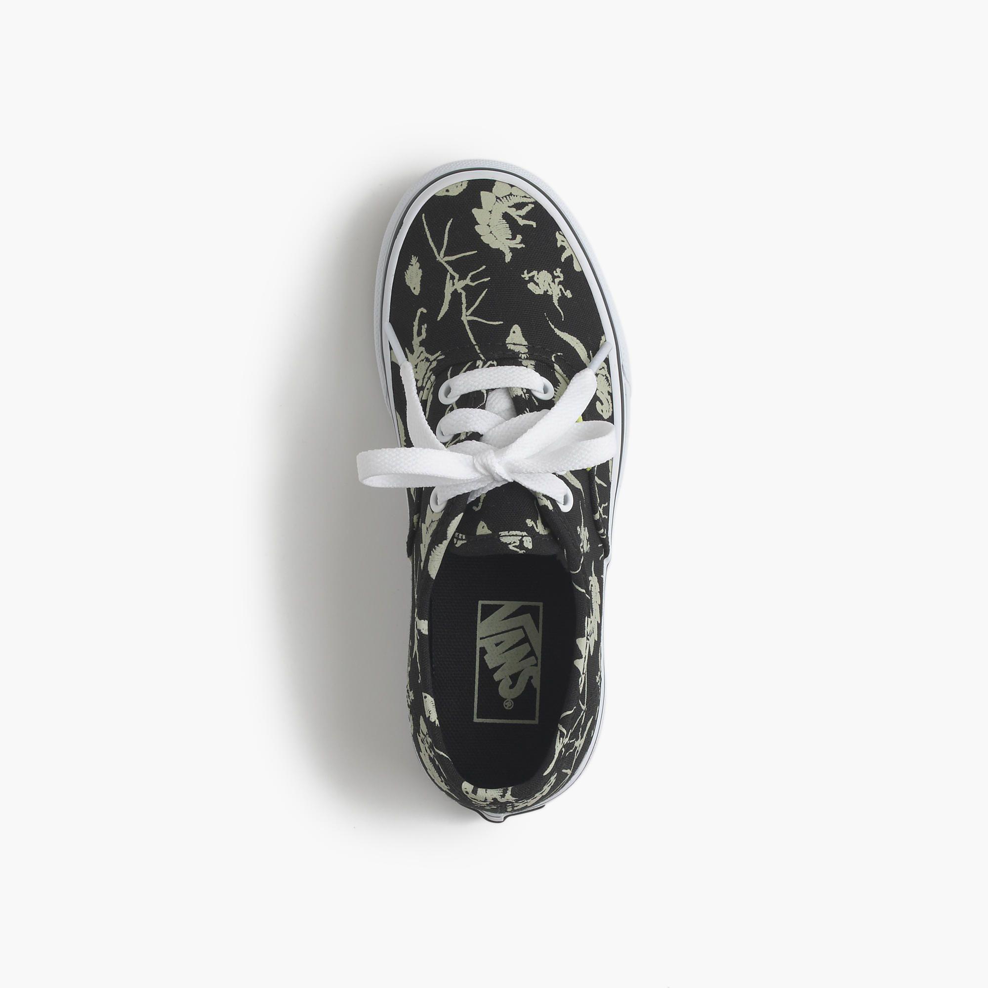 e2ee32b701 Kids  Vans® authentic glow-in-the-dark dinosaurs sneakers