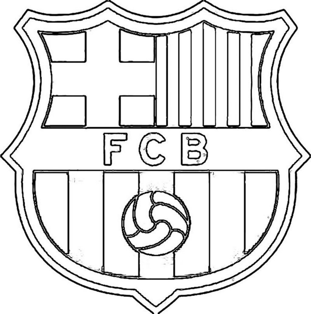 Soccer Coloring Pages Google Search Logo Barcelone