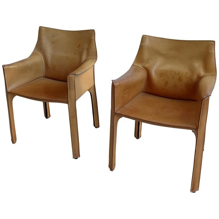 Pleasing Pair Of Mario Bellini Cab Chairs In Natural Leather By Ocoug Best Dining Table And Chair Ideas Images Ocougorg