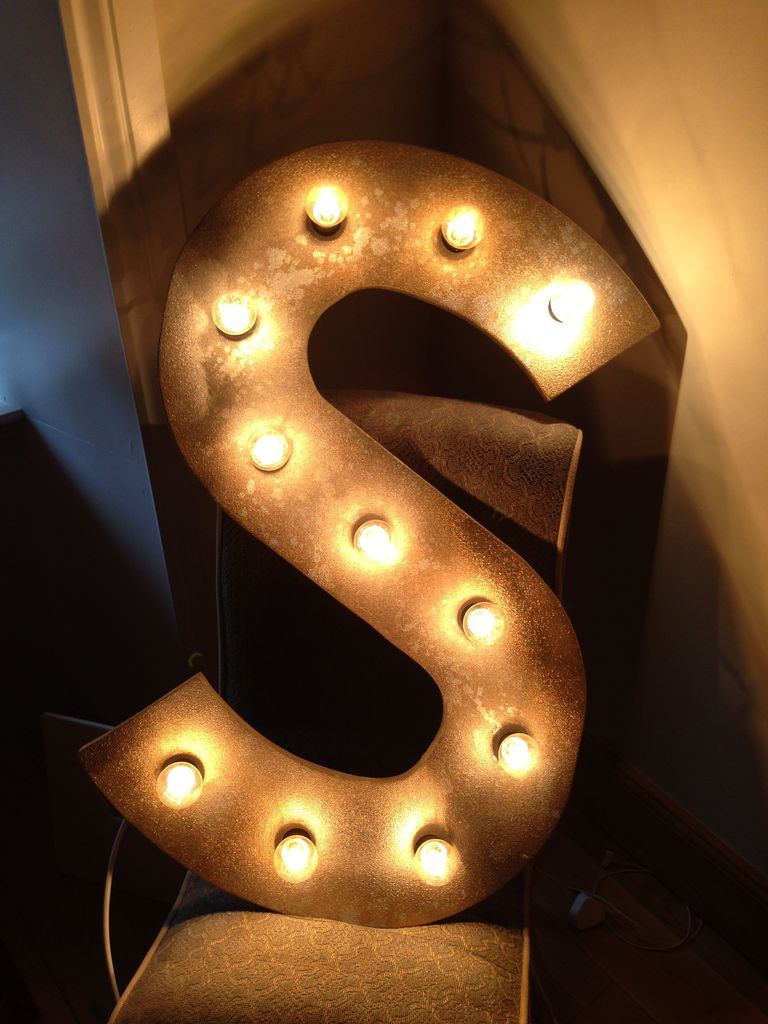 Metal Initials For Crafts Name In Lights Well Initials At Least Initials Display And