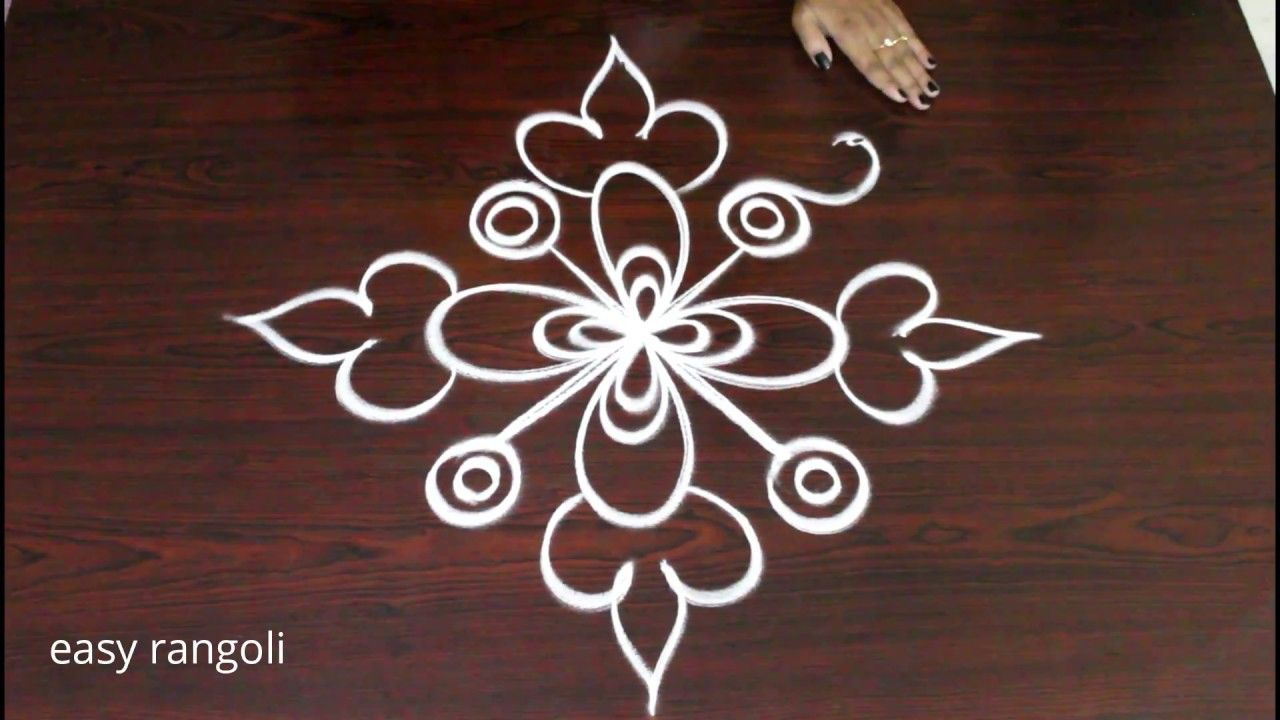 Easy Simple Creative Rangoli Designs Freehand Kolam New Muggulu