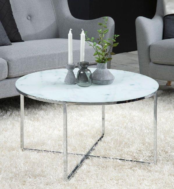 Couchtisch JOHN Glas Weiß/Marmor Motiv #Wohnzimmer #Wohnzimmerideen