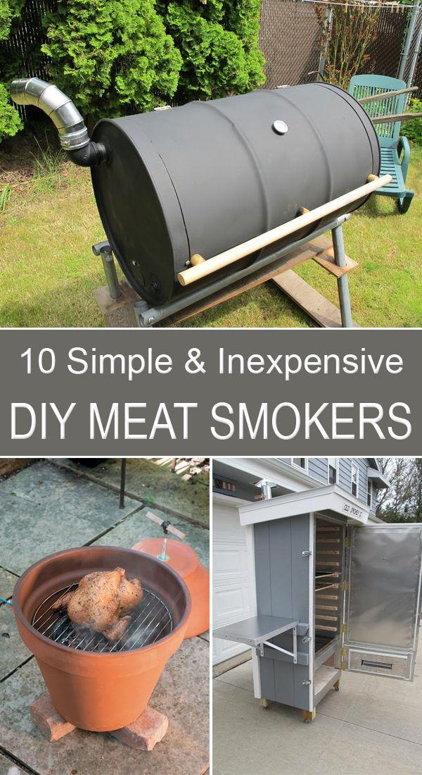 10 Simple and Inexpensive DIY Meat Smokers Diy smoker