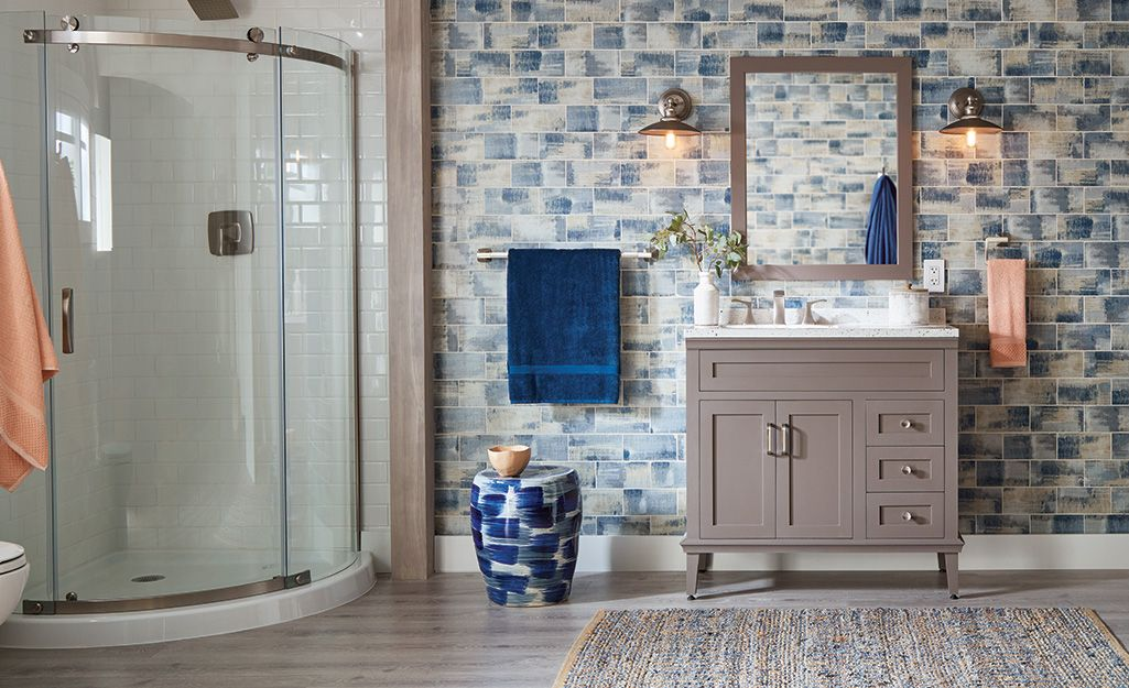 The tiles in your bathroom is a relatively simple update ...