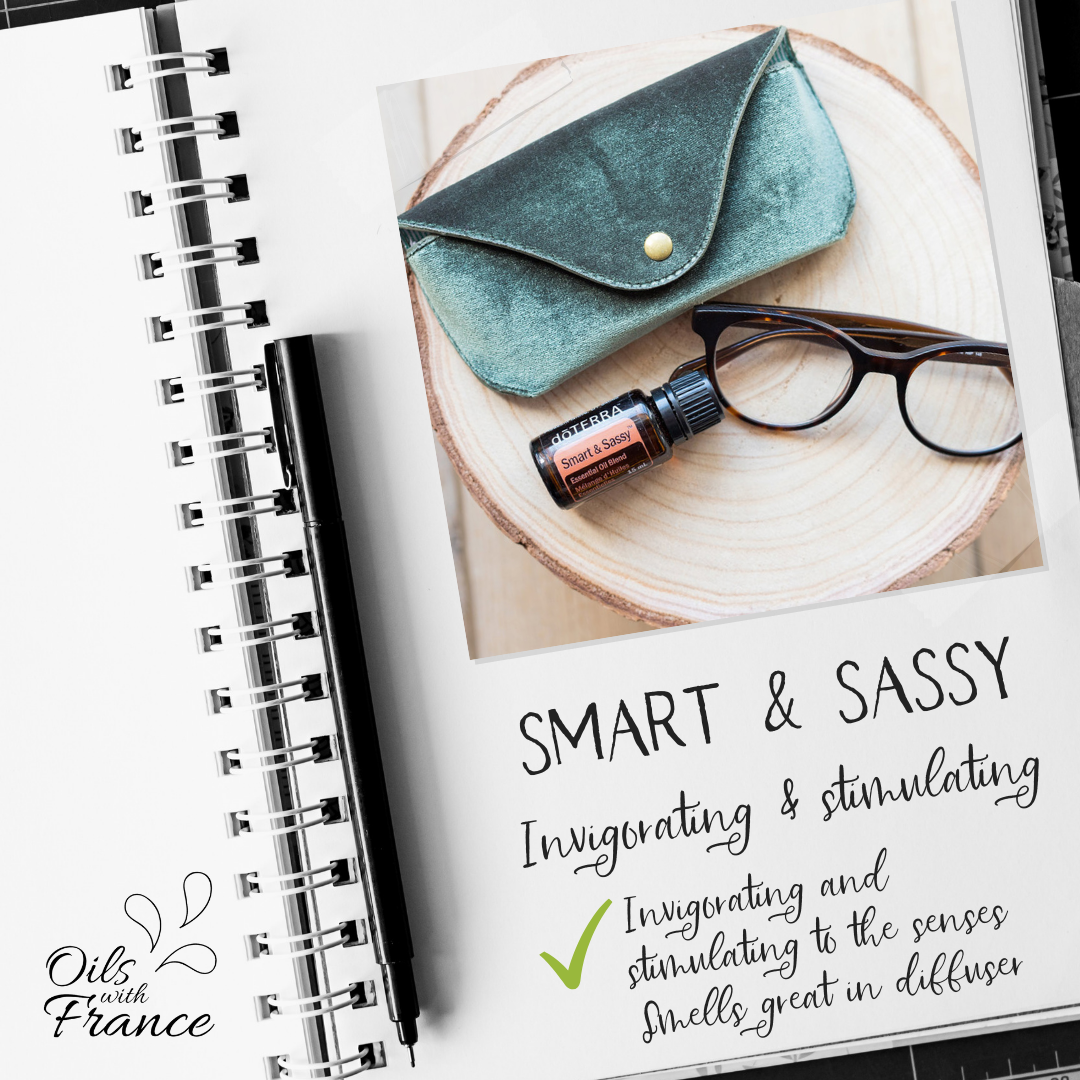 Smart & Sassy, our proprietary metabolic blend, combines powerful essential oils. The flavourful blend of Smart & Sassy taken with water provides a fresh burst of citrus. A great companion to a healthy eating and exercise program. Its flavor and aroma are uplifting and stimulating to the senses. Smart & Sassy contains Grapefruit, Lemon, Peppermint, Ginger, and Cinnamon. & Sassy, our proprietary metabolic blend, combines powerful essential oils. The flavourful blend of Smart & Sassy taken with water provides a fresh burst of citrus. A great companion to a healthy eating and exercise program. Its flavor and aroma are uplifting and stimulating to the sense...