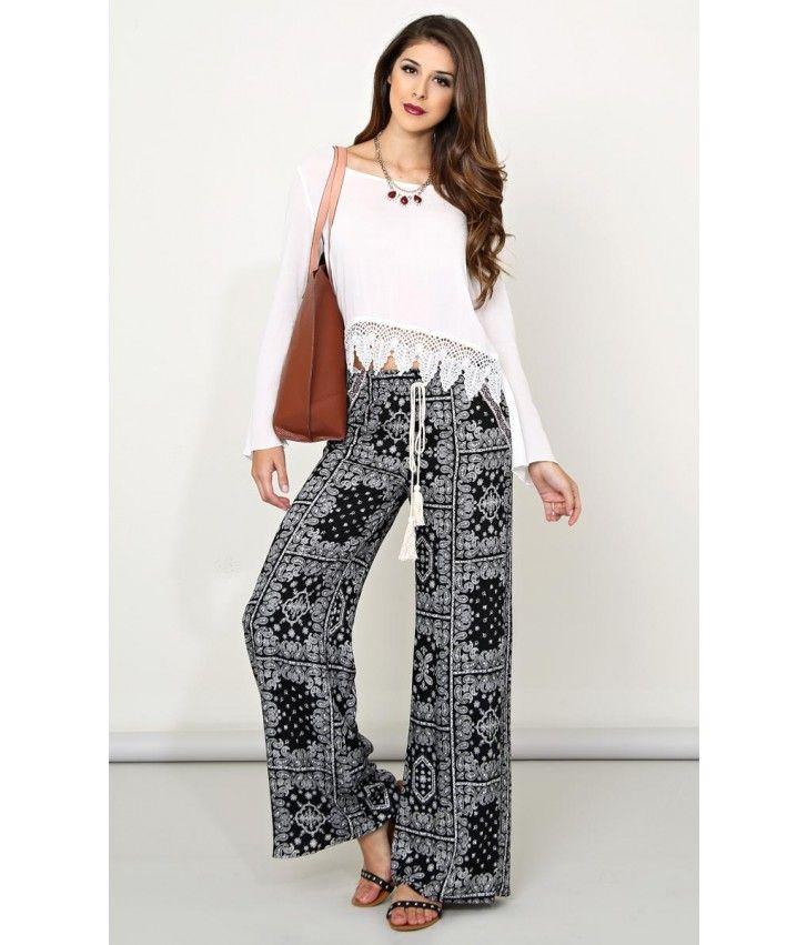Bohemian Outfit Female Pants