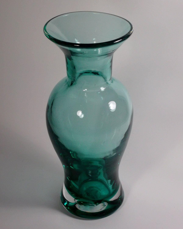 Blenko hand blown aqua glass vase blown glass blenko hand blown aqua glass vase reviewsmspy