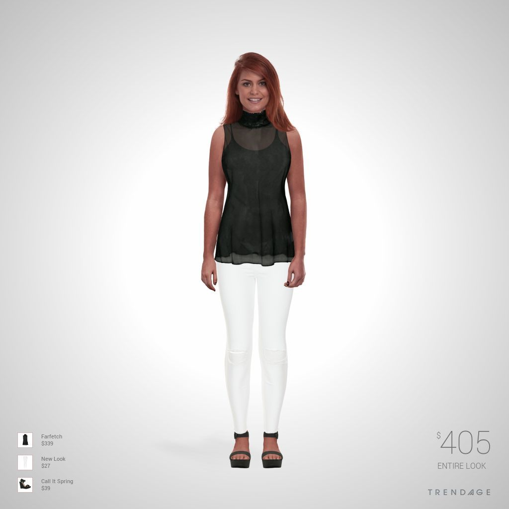 Fashion look with clothes from farfetch new look call it spring