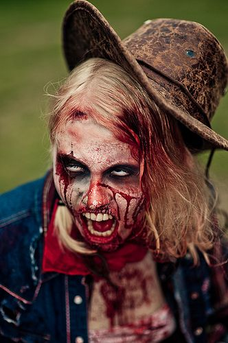 Diy Airbrush Makeup: Cowgirl Zombie - Considering This