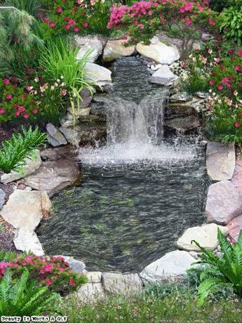 Beauty Is Worth A Gif Quintas del Redil Pinterest Jardín - fuentes de cascada