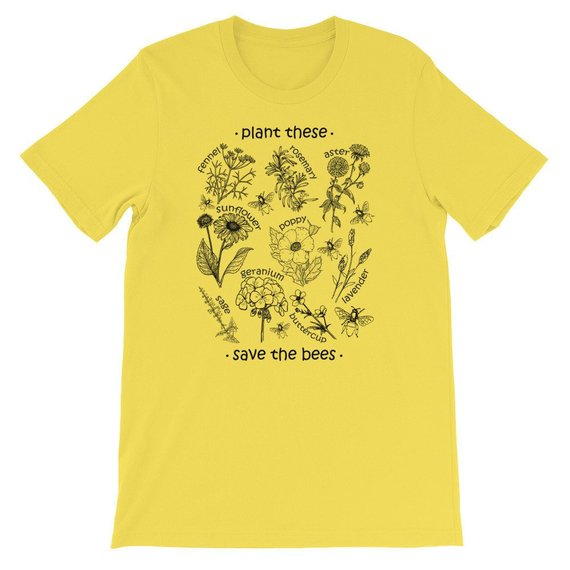 37181cc399d53 Plant These Save The Bees Shirt Flowers T Shirt, Help more bees ...