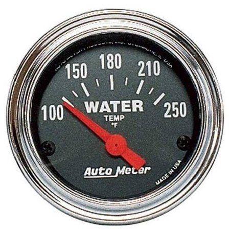 auto meter 2532 2in water temp, 100-250f sse, multicolor