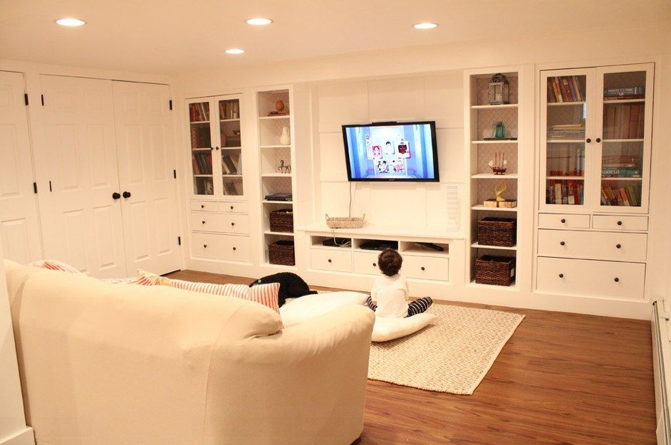 Wall Of Built Ins Out Of Ikea Hemnes Cabinets Hometalk An Interesting Diy Project