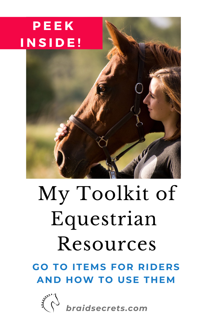 Look Inside My Toolkit Of Equestrian Resources Craft Your Best Braids Ever Horse Care Supplies Horse Training Horse Training Tips