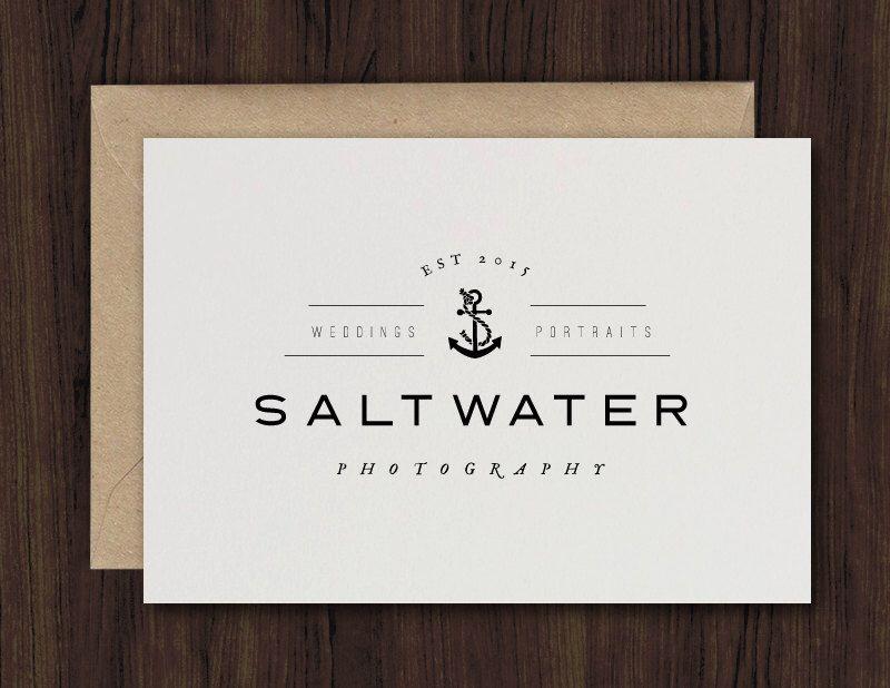 logo design, photography logo, premade logo, simple logo, nautical ...
