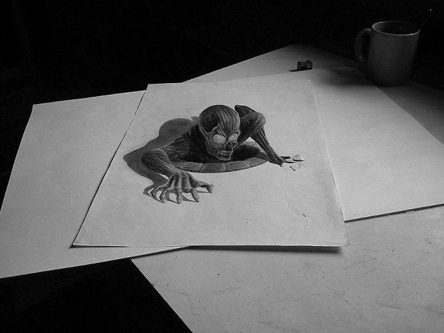 33 Increibles Dibujos Pintados A Mano Que Parecen Reales Dibujos 3d A Lapiz Animales Dibujados A Lapiz Como Dibujar Cosas