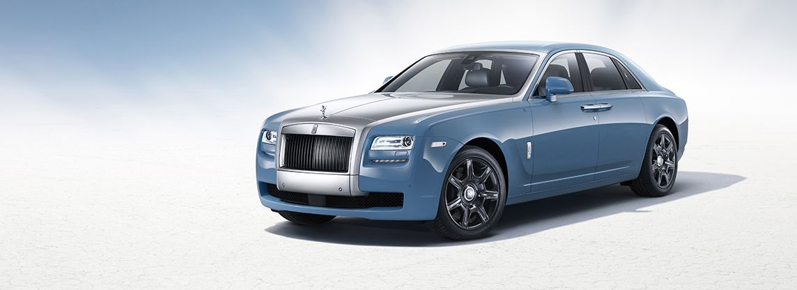 Bespoke Baby Blue Rolls Royce Ghost To Commemorate 100 Years Of