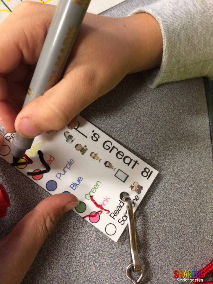 Daily 5 Necklaces - Sharing Kindergarten
