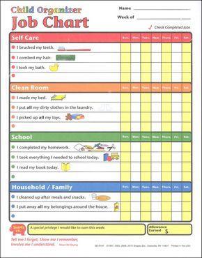 Kids Chore Chart  Stuff I Want To Make    Job Chart