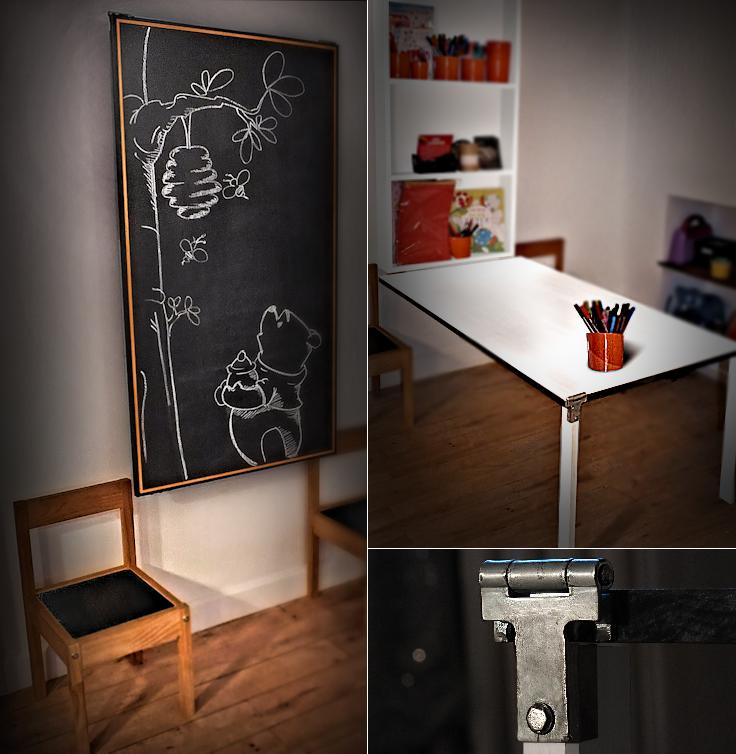 Home Design Ideas Blackboard: Tavle/Klap-ned-bord Til Ungerne. #Folding #Table