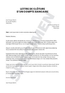 Lettre De Cloture D Un Compte Bancaire Lettre De Demission Lettre De Motivation Type Modeles De Lettres