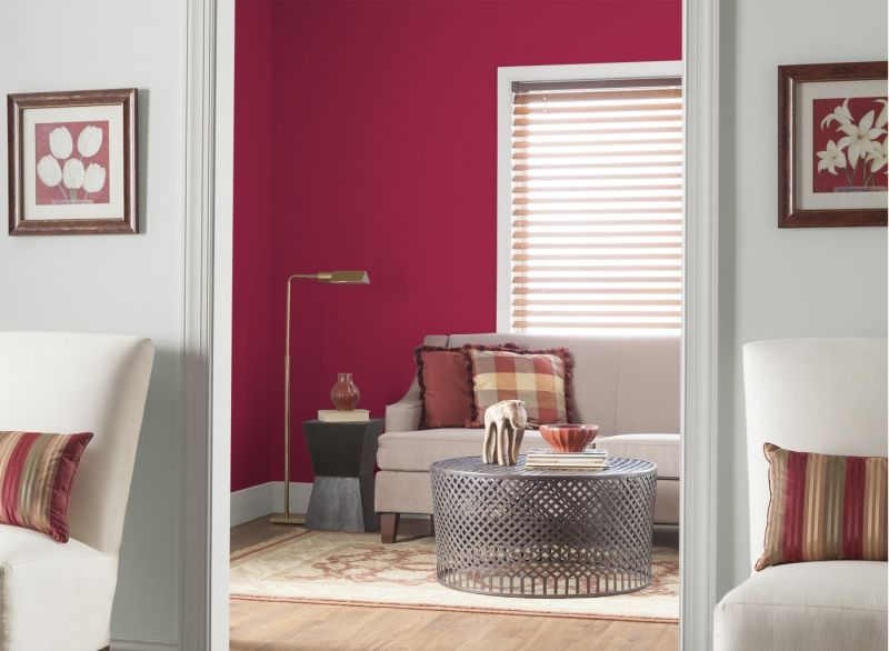 Wandfarben fürs Wohnzimmer - 25 Gestaltungsideen Wandfarbe beere - wandfarben fürs wohnzimmer