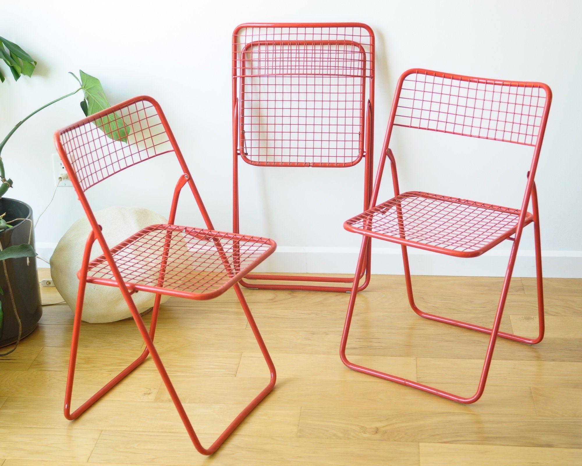 1980s Vintage Ikea Ted Net Chairs By Niels Gammelgaard Folding