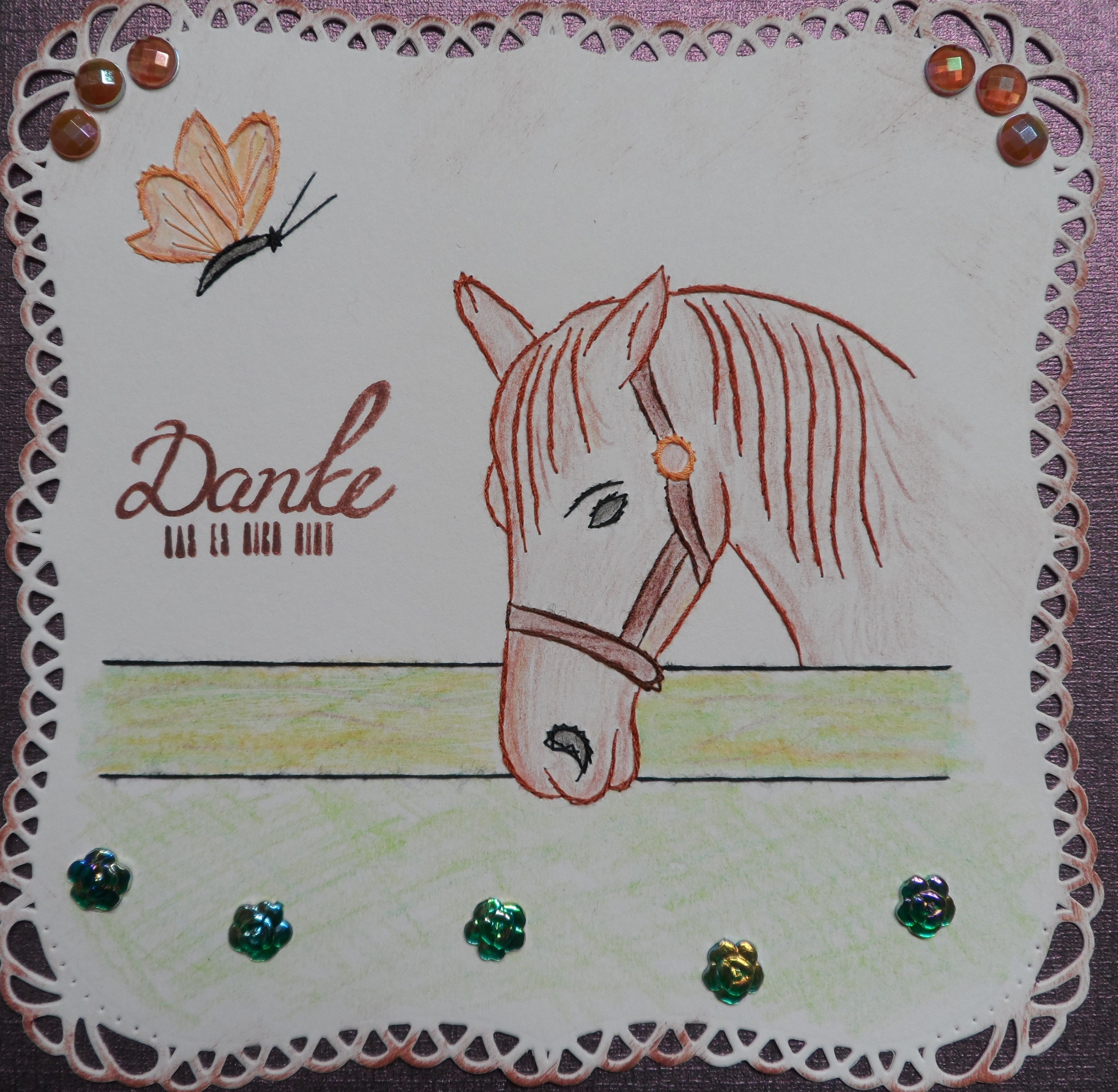 Fadengrafik Pferd