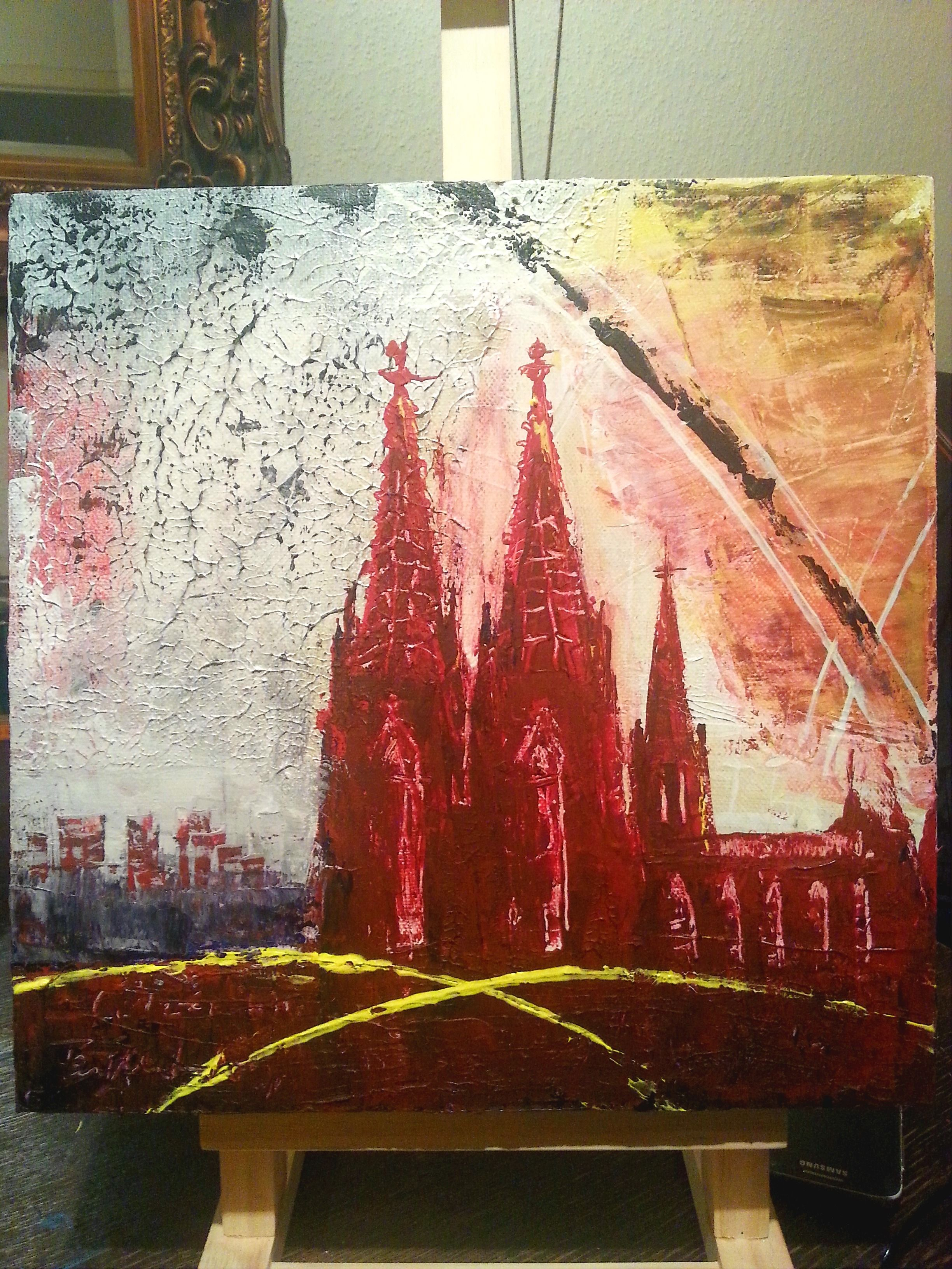 Cologne Cathedral Malerei Gemalde Abstrakt
