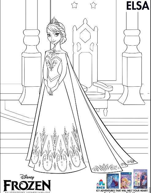 3 Free Frozen Printables Coloring Pages Kid activities Children
