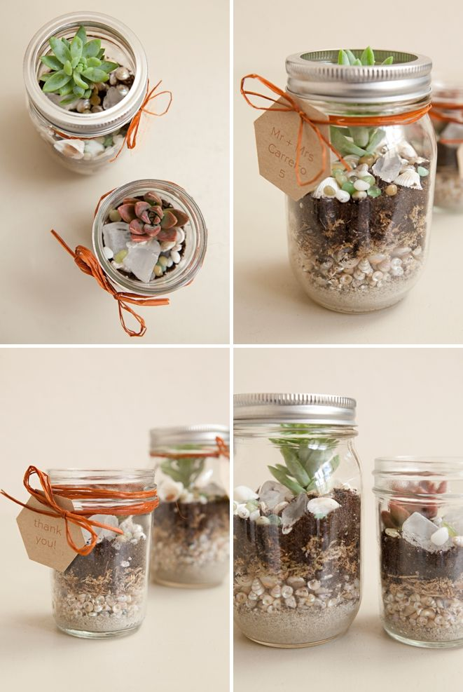 Learn How To Make Terrariums For Your Wedding