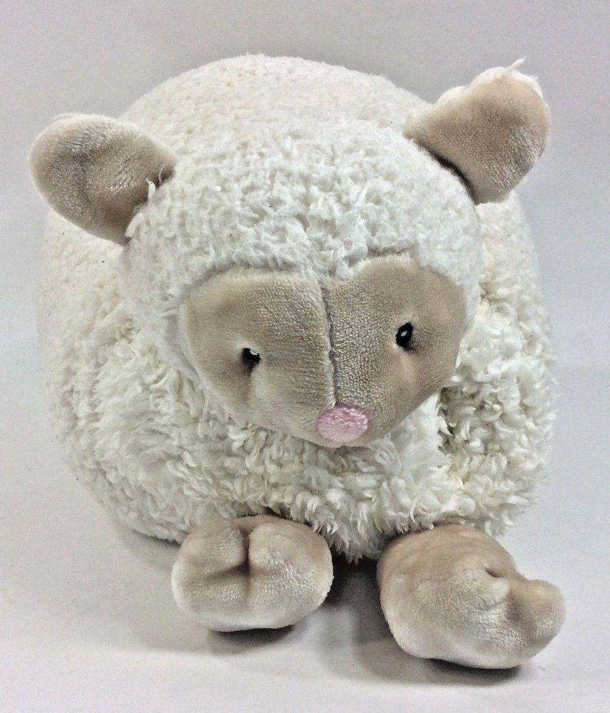 Little Miracles Sheep Lamb Pillow Fold Up Costco White Plush Blanket