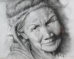 Lady Old Woman Drawing Easy