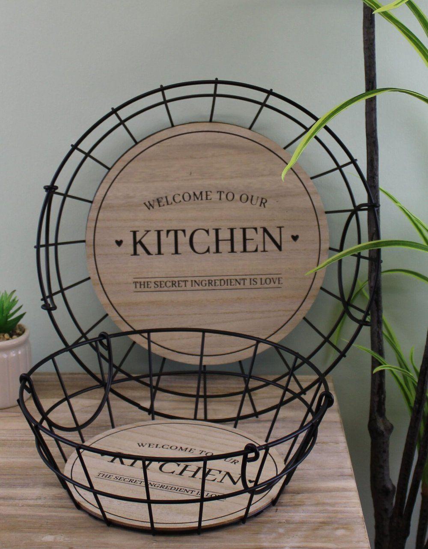Iron Wire Kitchen Baskets