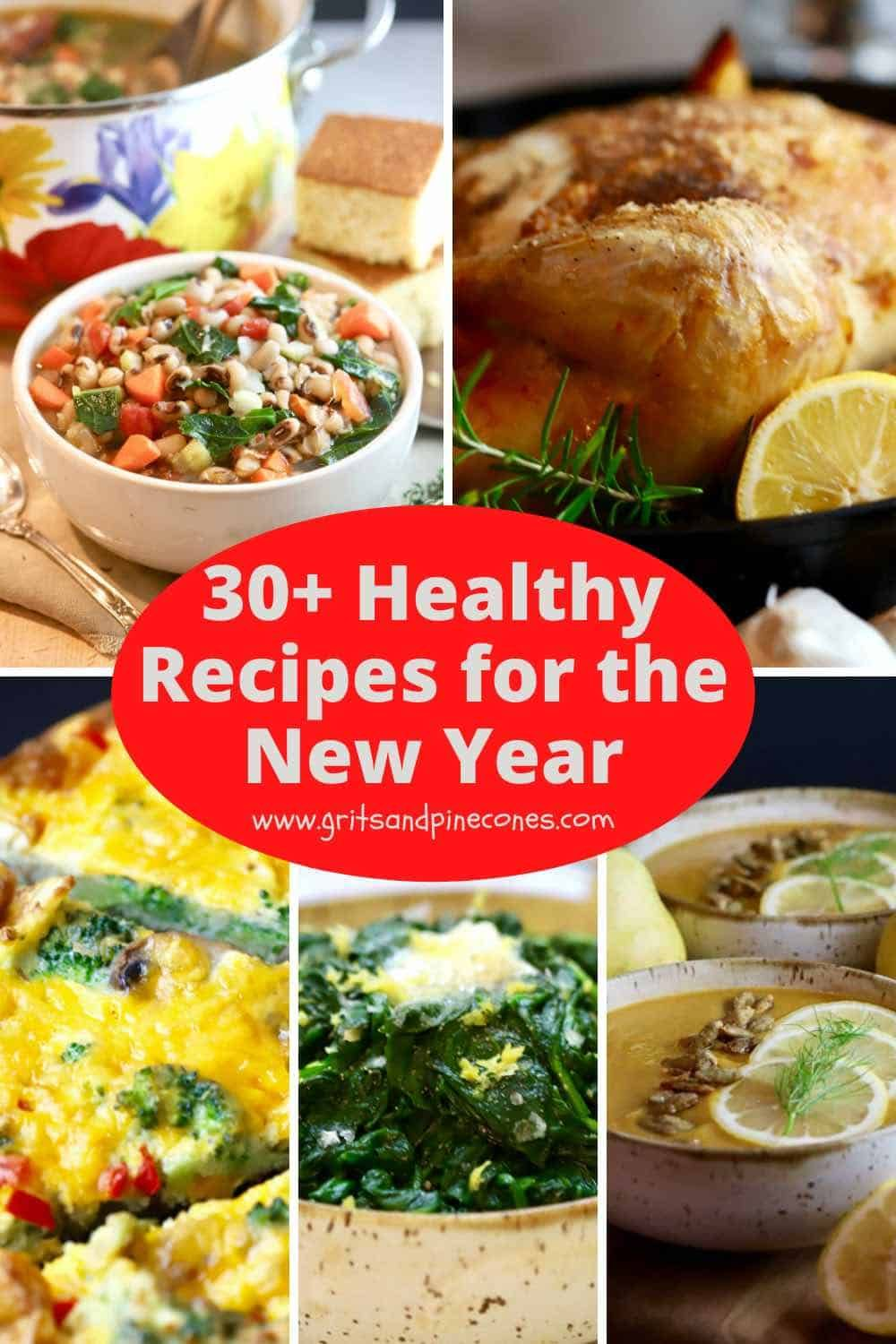 30+ Healthier Recipes for the New Year | gritsandp