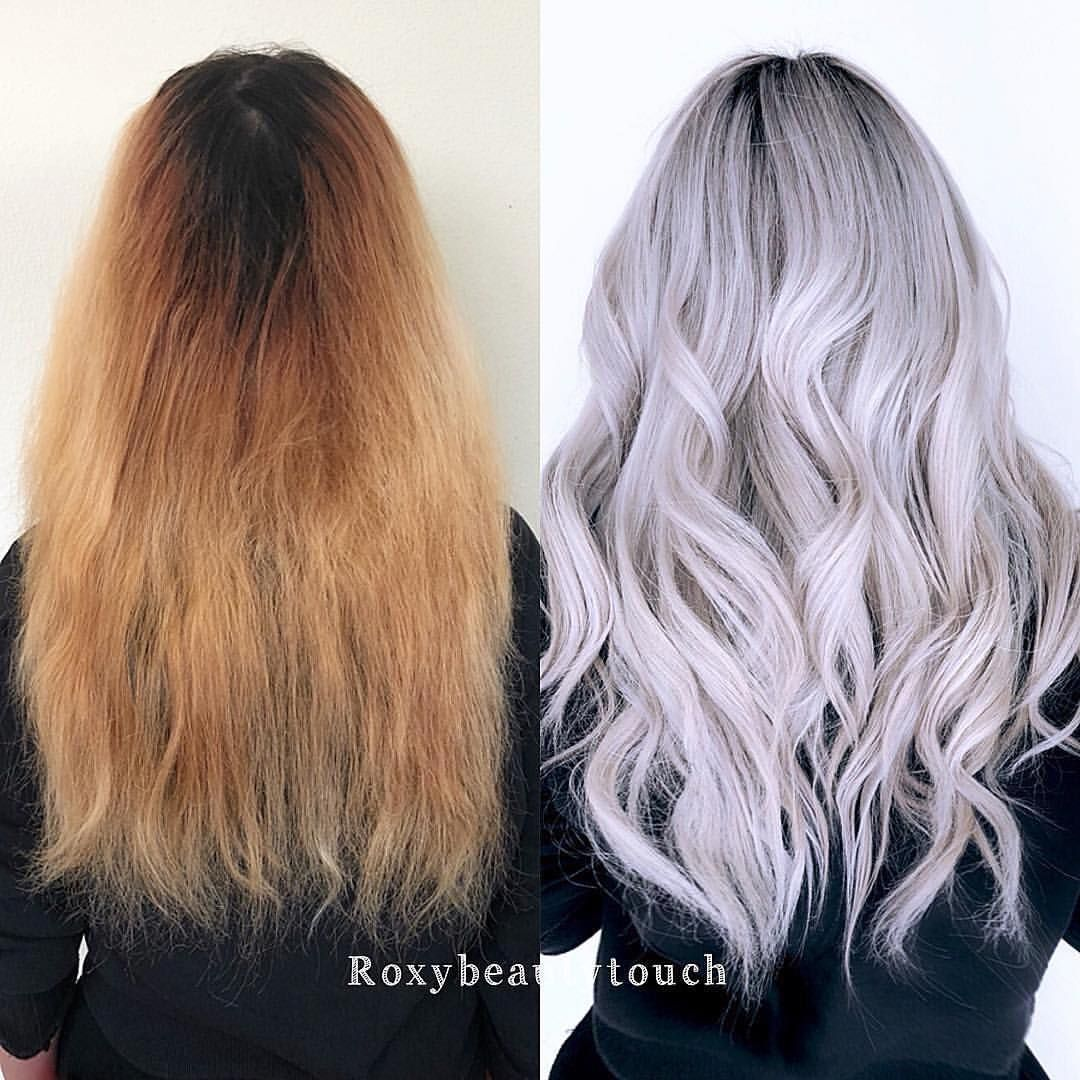 Ice Blonde Transformation By Roxybeautytouch Finished Off With