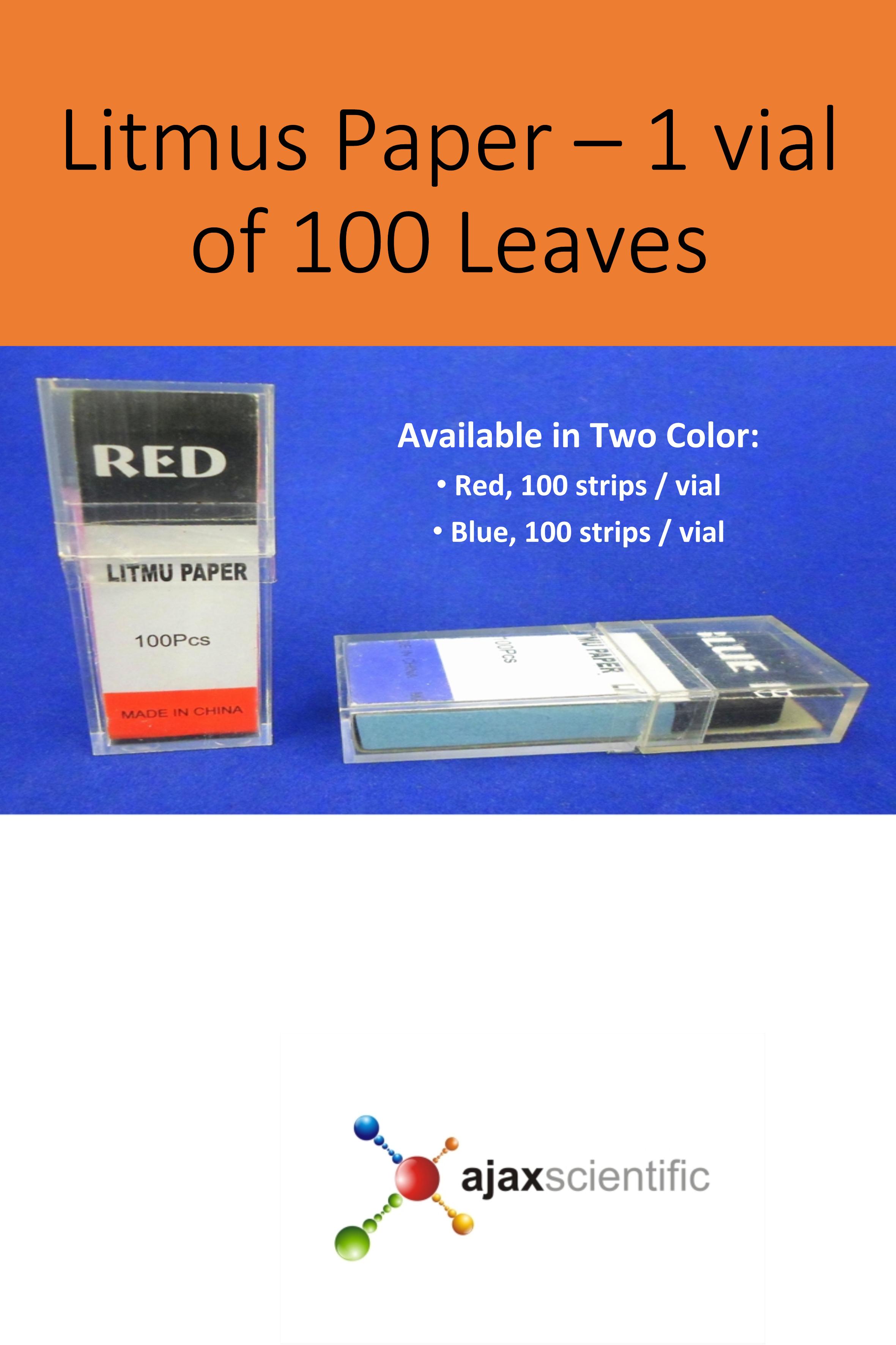 Litmus Paper - 1 vial of 100 Leaves | Science Education
